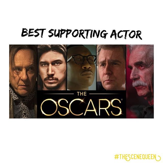 Here are the 2019 Oscar nominees for Best Supporting Actor: 1. Richard E. Grant (Can You Ever Forgive Me?) 2. Adam Driver (BlackKklansman) 3. Mahershala Ali (Green Book) 4. Sam Rockwell (Vice) 5. Sam Elliot (A Star Is Born) WHO DO YOU THINK WILL WIN? 🏆