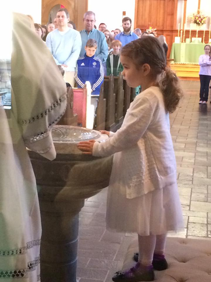 Julianna Grace Johnston receives the Sacrament of Baptism on February 26, 2017