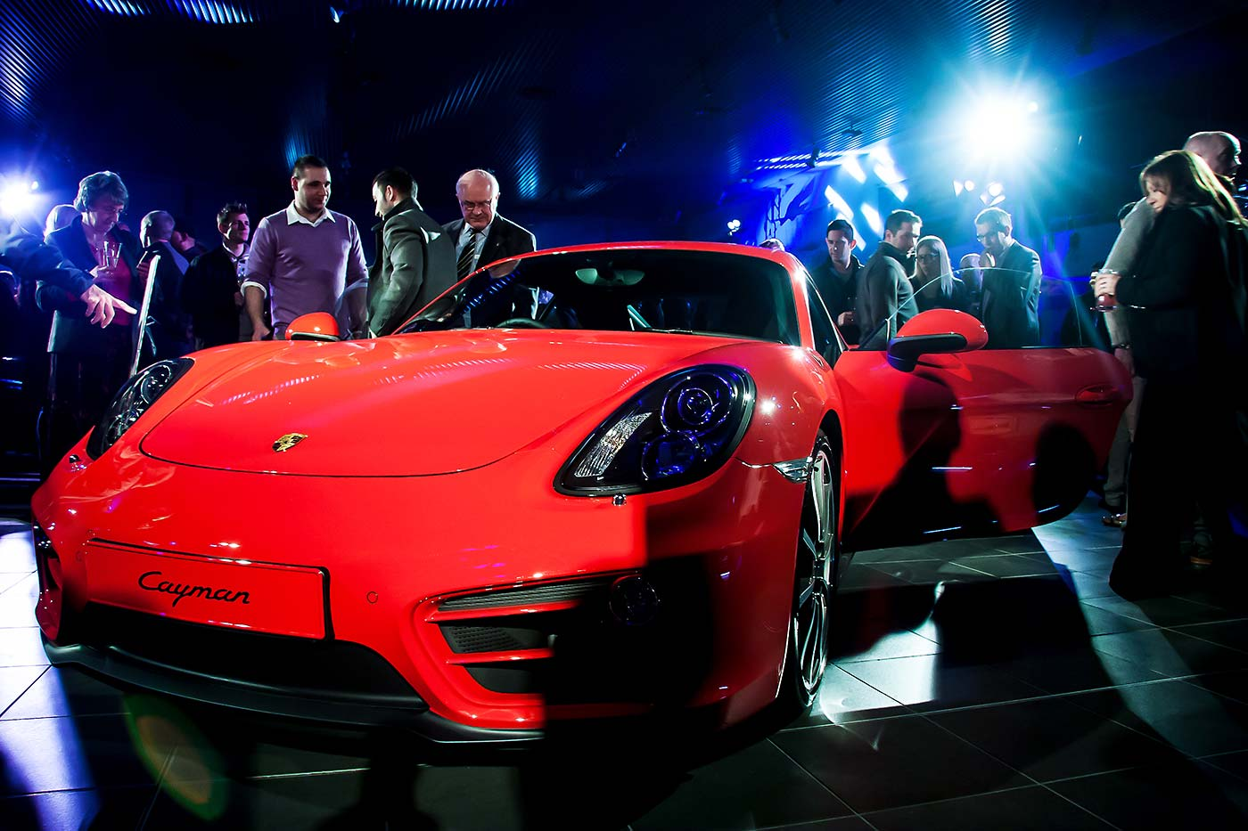 Porsche Cayman S launch at Hatfield Porsche showroom.