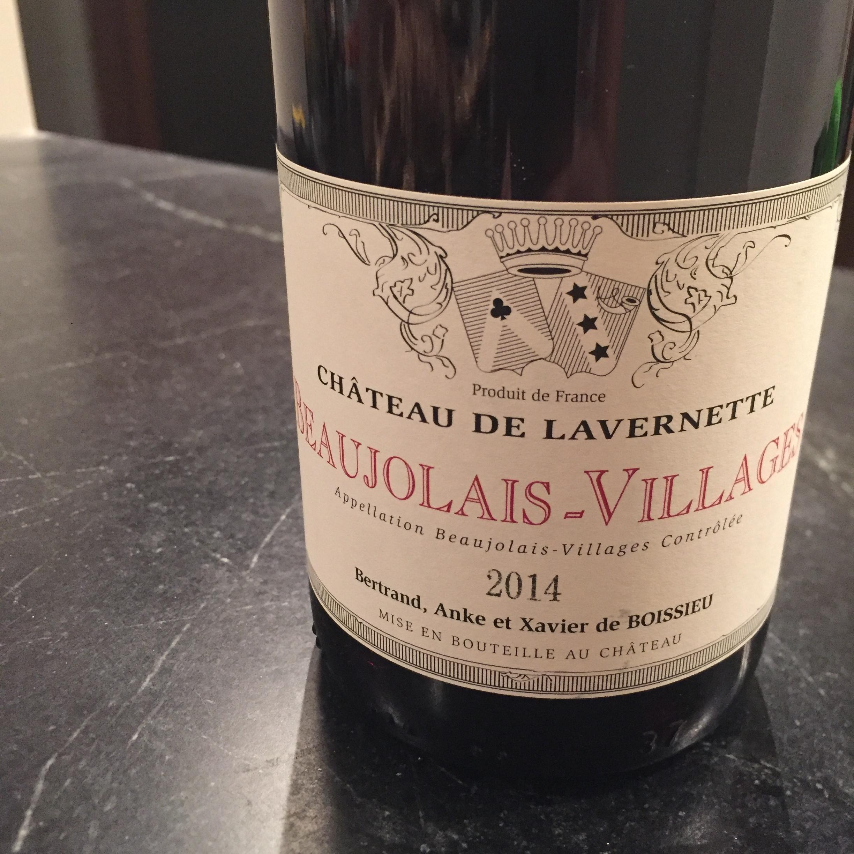 Chateau de Lavernette Beaujolais-Villages 2014 review Gamay