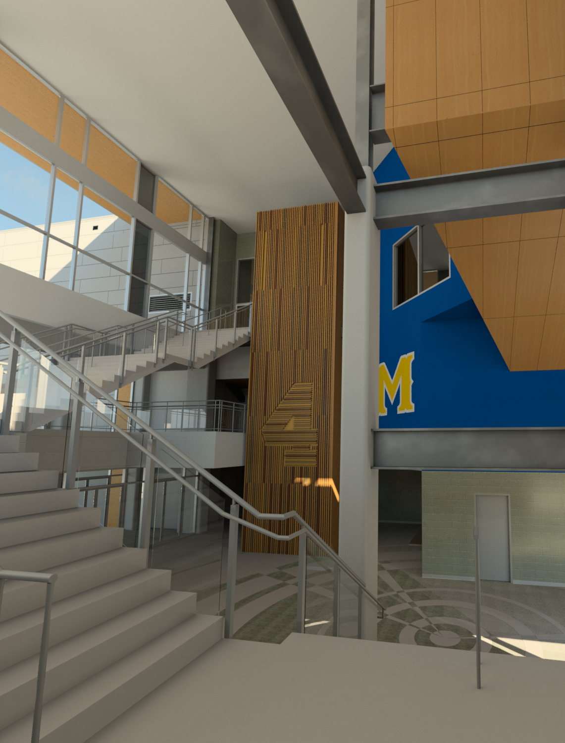 McNeese State - Entry Lobby From Stair.png