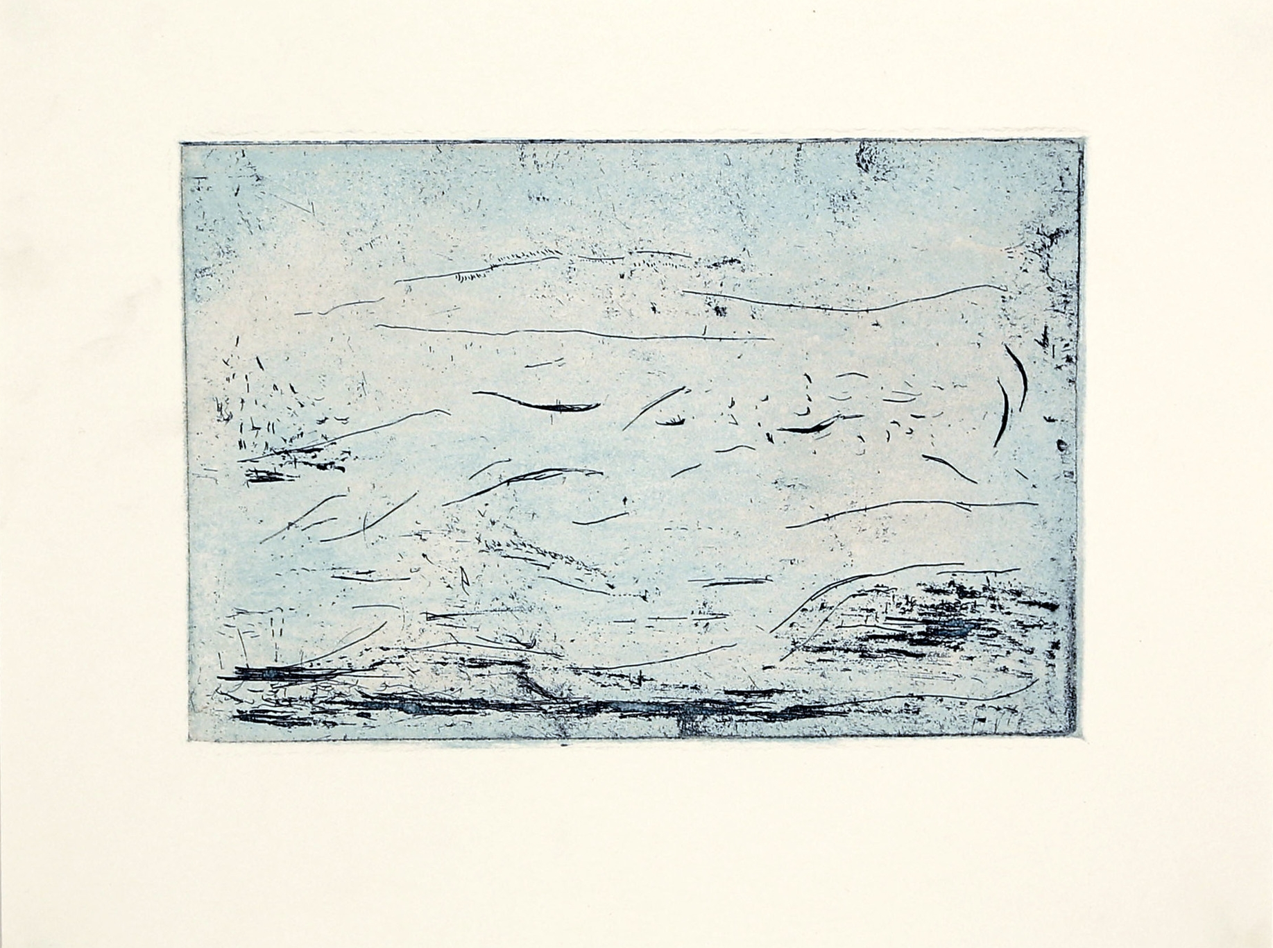 Fragile Warmth of Sheets of Rain Falling [size A4, aquatint etching on zinc] .jpg