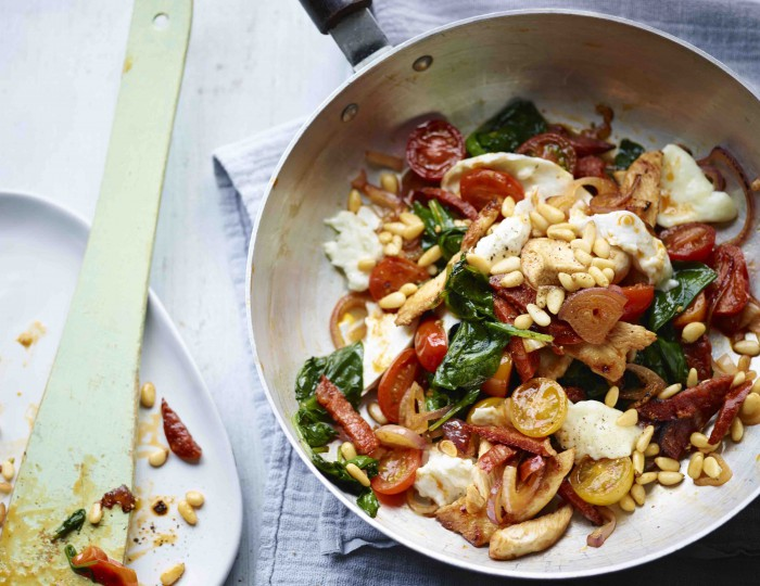 Cheesy Chorizo Chicken and Spinach