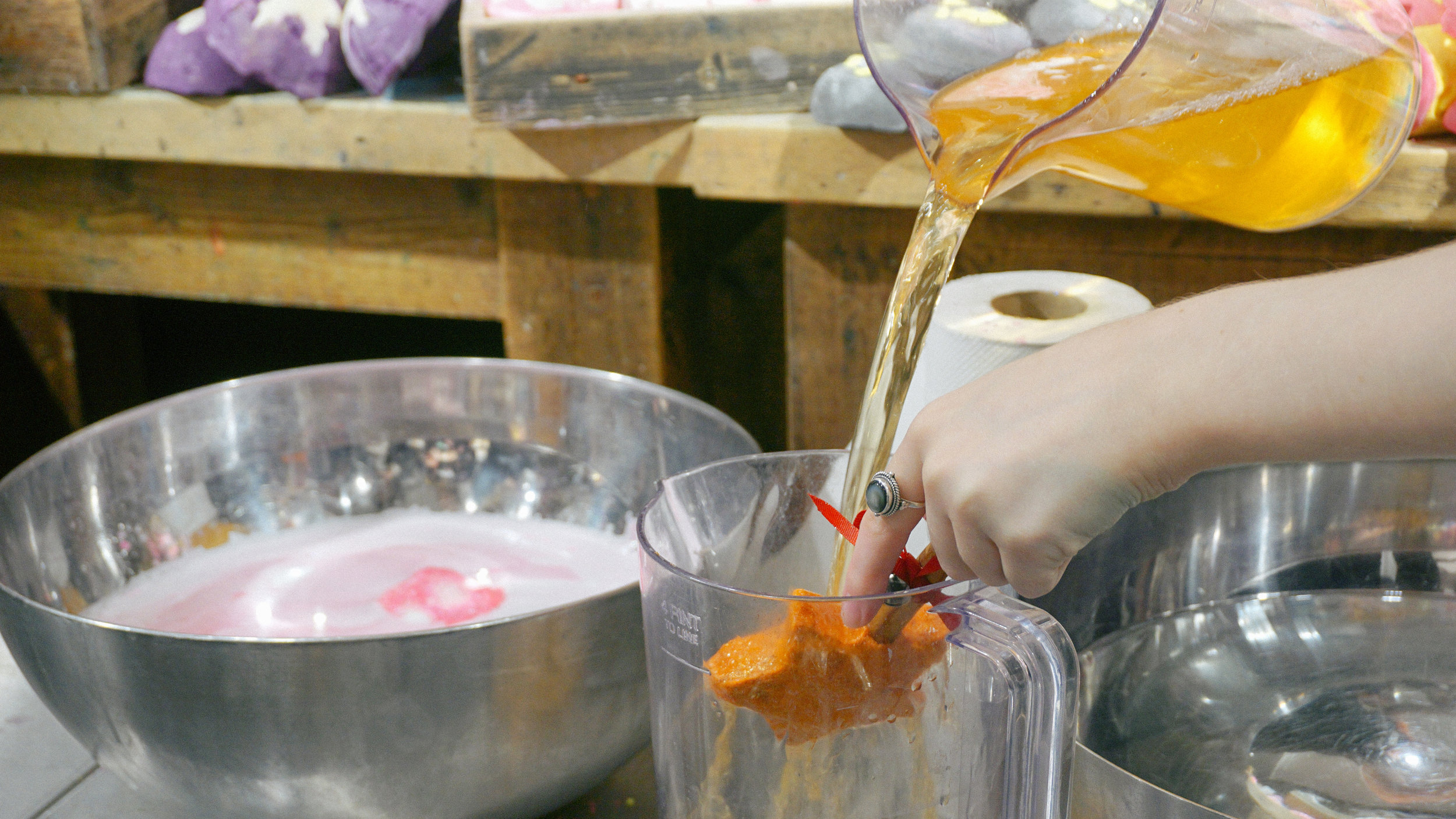 The Magic of Christmas Reusable Bubble Bar  in action