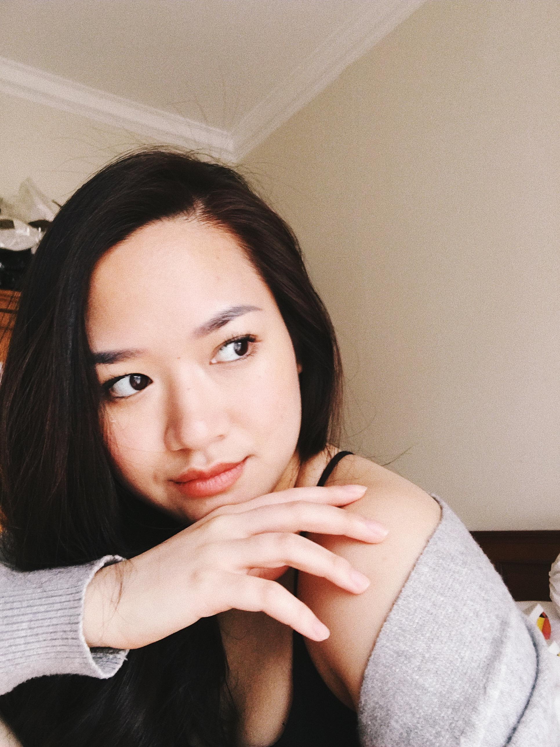Mona on my lips and cheeks