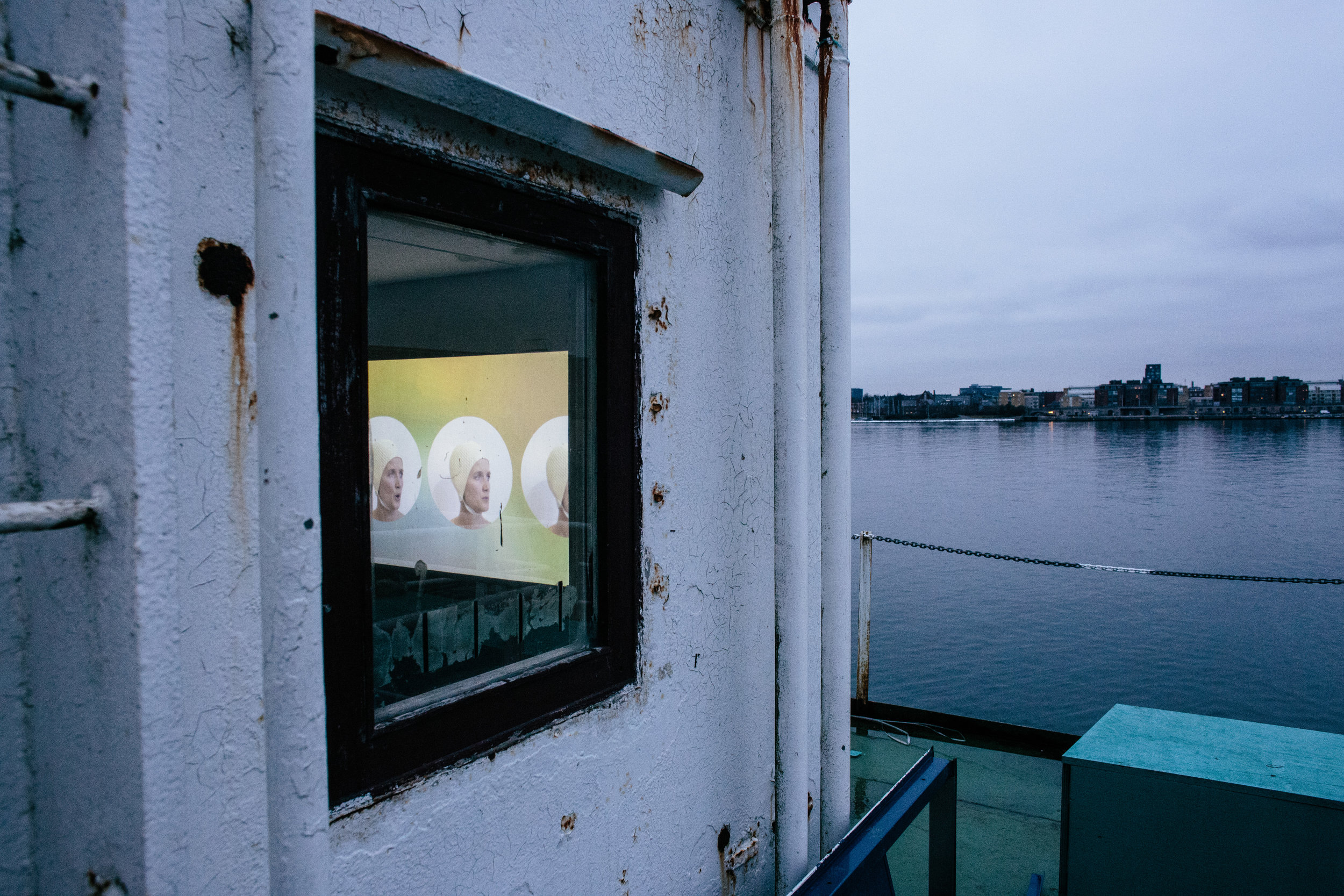 Madison bycroft,    Bureau of Neutrality and the Half Sung , Detail,  watery worldings , installation shot: Malthe Folke Ivarsson