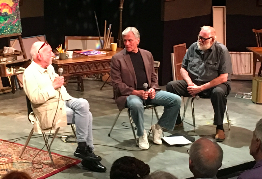 (L-R) Hal Prince, Kurt Peterson, Jim Brochu