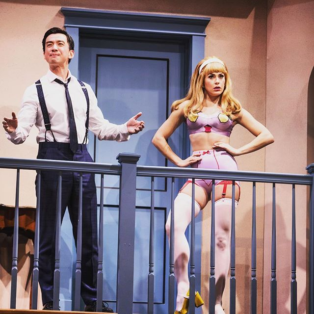 An early #tbt to me, @johnny_m_wu, and #lemontits #noisesoff #itwasmycostumeillcallitwhatilike
