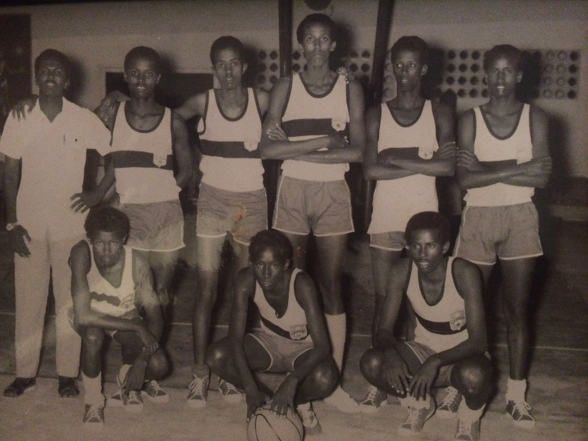 Orphanage basketball team - Mogadishu 1970