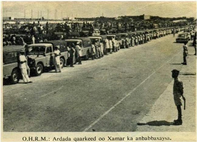 Literacy convoy leaving Mogadishu - circa 1974