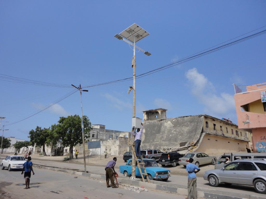 Solar street lights, Mogadishu - circa 2013