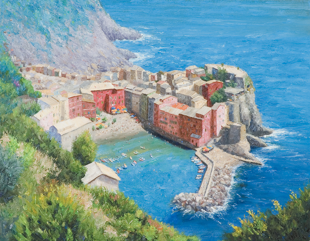 Fred Moss, Cliffside View of Vernazza
