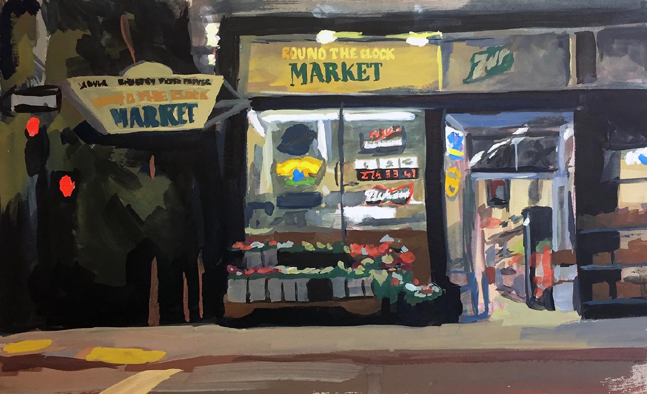 Emerging Artist Winner, Heather Martin, Night Market
