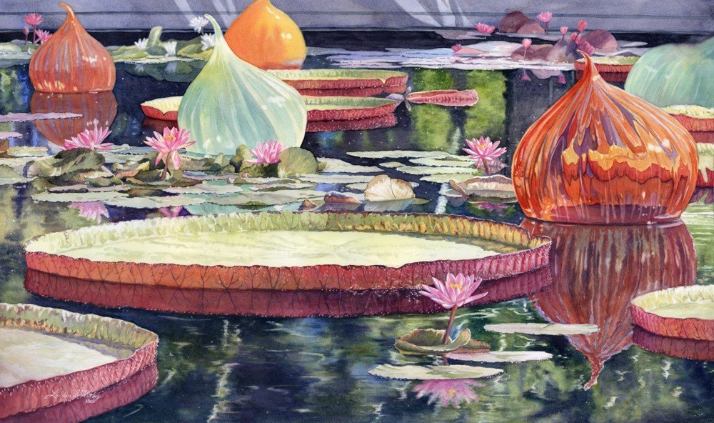 Lorraine Watry, Lilies and Glass