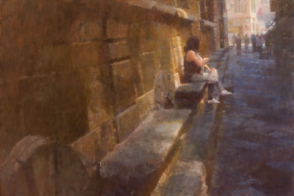Master Class, James Crandall, Woman on Stone Bench