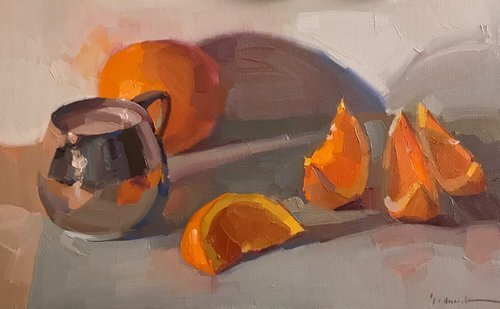 Sarah Sedwick, Oranges Slices and Silver