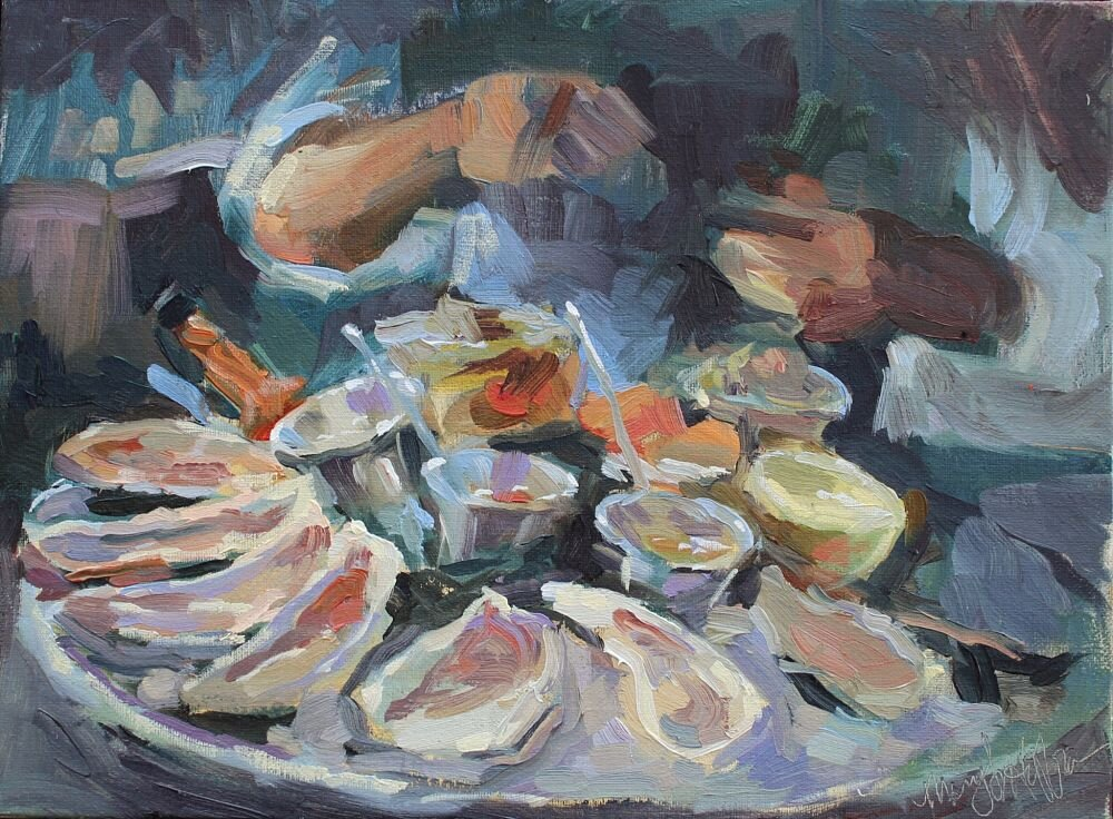 Mary Hoffman, Oysters on the Half Shell