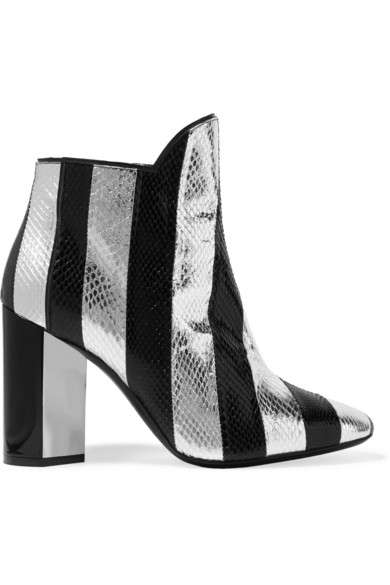 Pierre Hardy Belle Striped Watersnake Ankle Boots