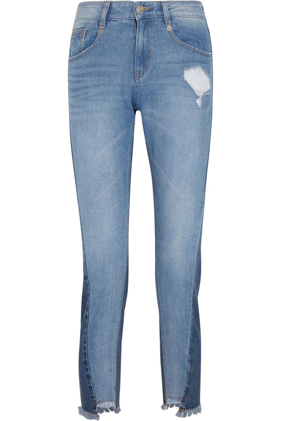 Steve J & Yoni P Distressed Mid-Rise Jeans