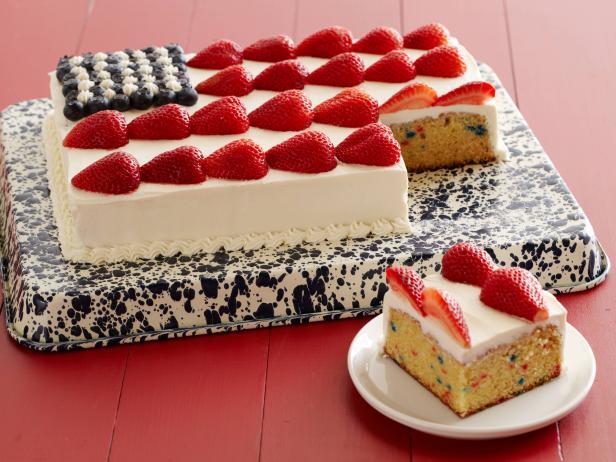 Easy Flag Cake