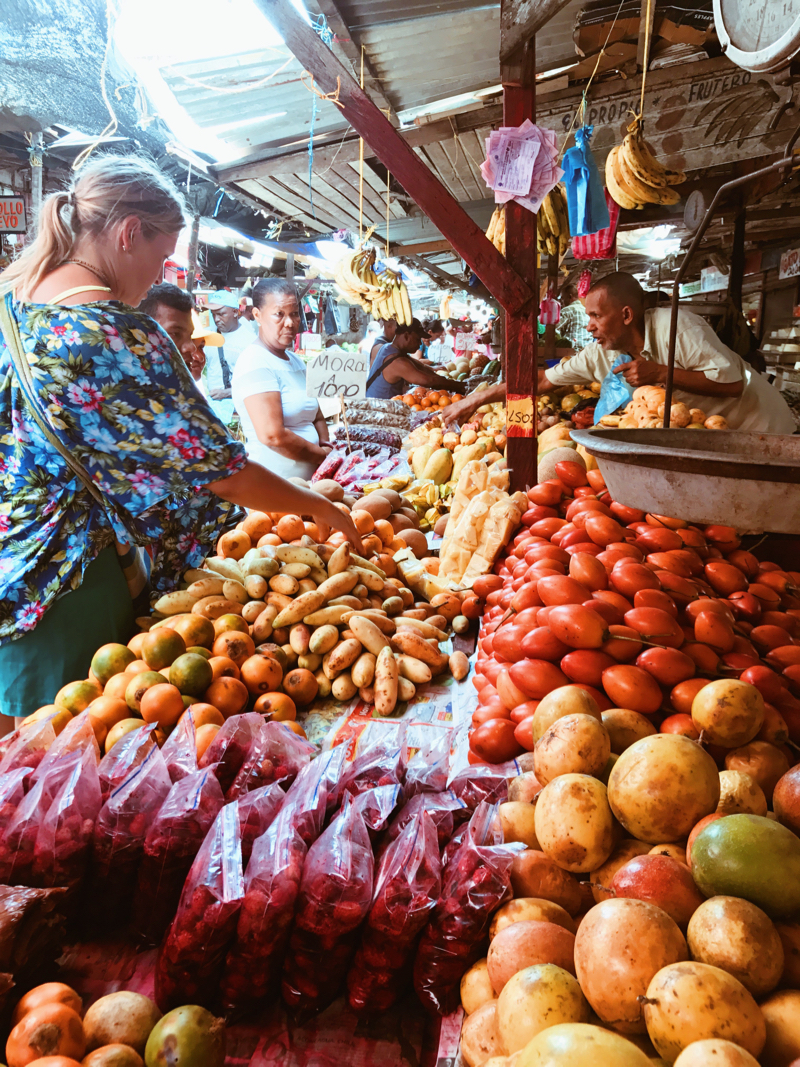 Kristy at the Mercado de Bazurto in Cartagena. Note: Do NOT visit this incredible place without her!