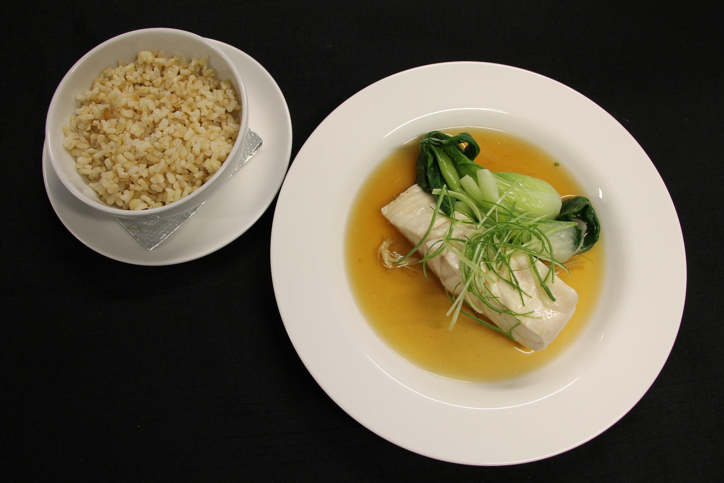 Fish, broth brown rice plated.JPG