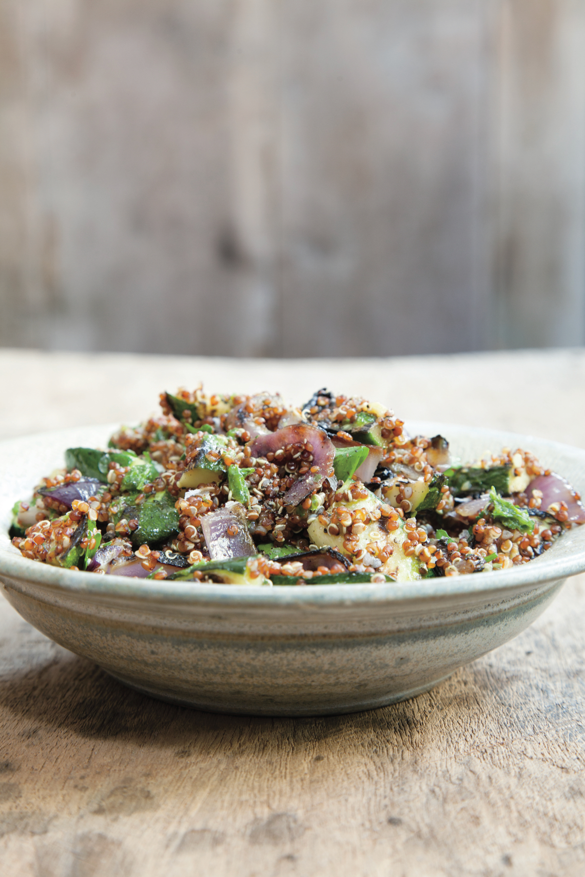 grilleZucchini + Red Onion Salad with Quinoa
