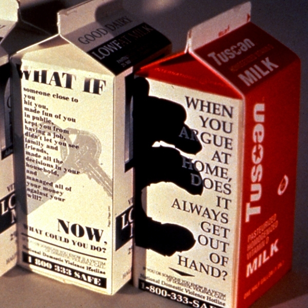 Domestic Violence Milk Carton Project