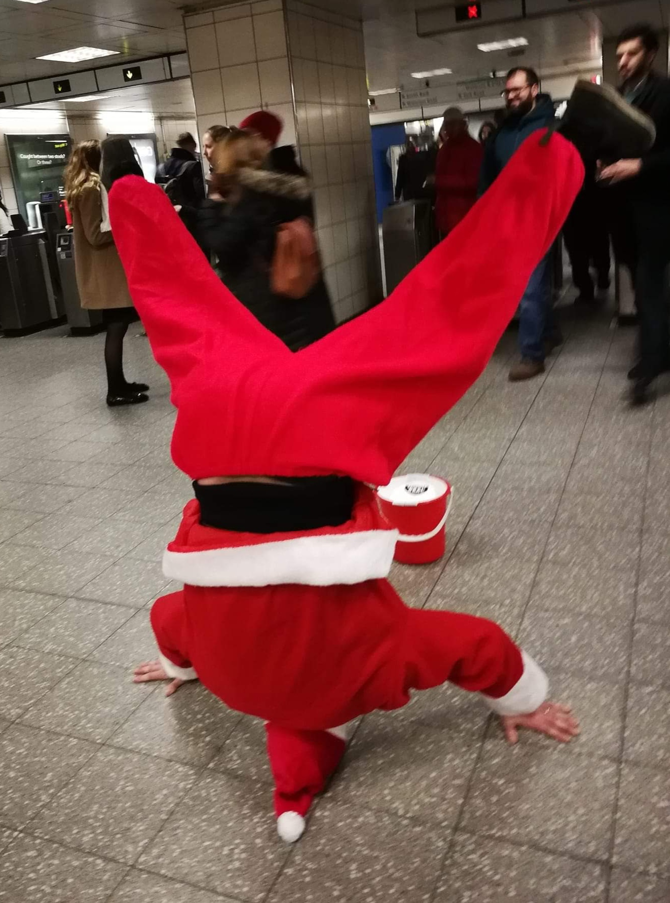 One tenor down at Waterloo Station raising money for the Red Cross.