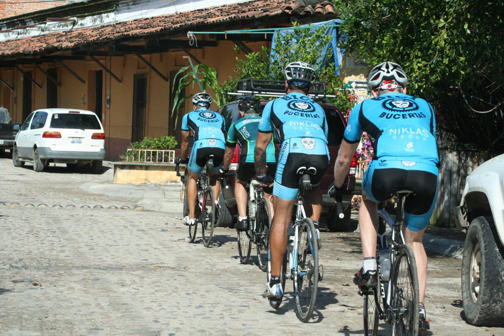 Puerto Vallarta Bike Tours - Riding the cobble of el Tuito