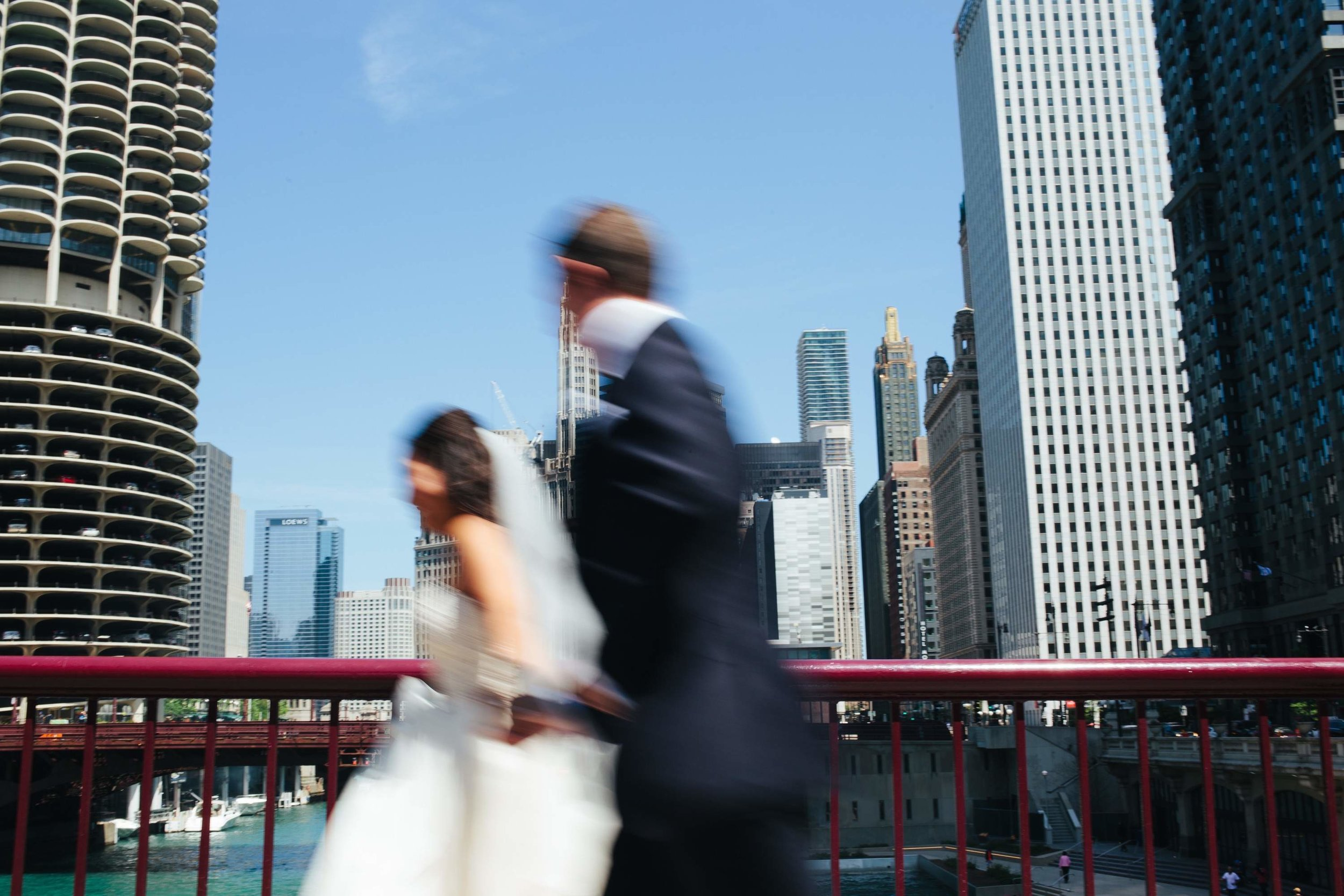 Chicago Skyline Wedding Photos