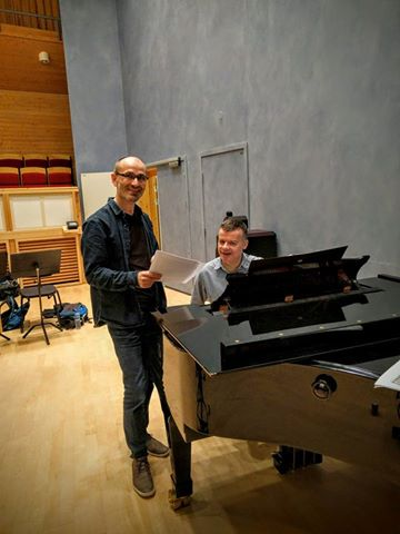 Bjørn Andor drage with the british organ player and conductor martin baker