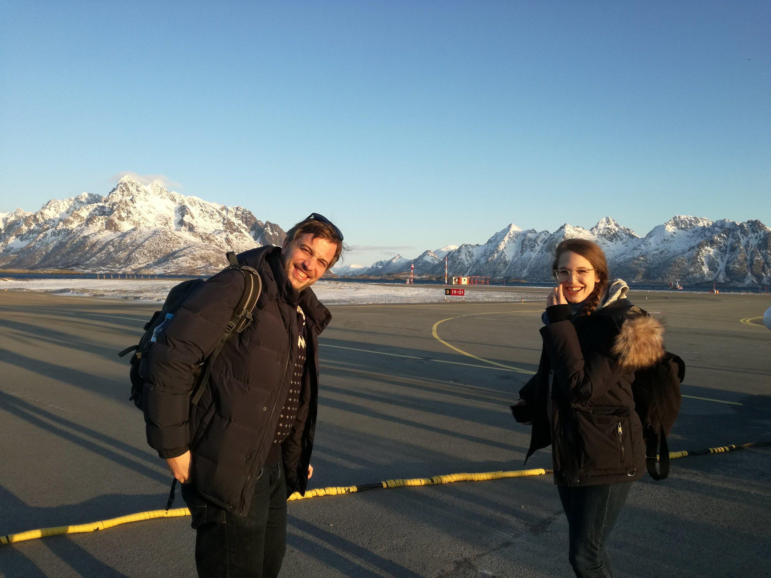 Tyske Joachim og Anna var enig om at det var fint i Svolvær!