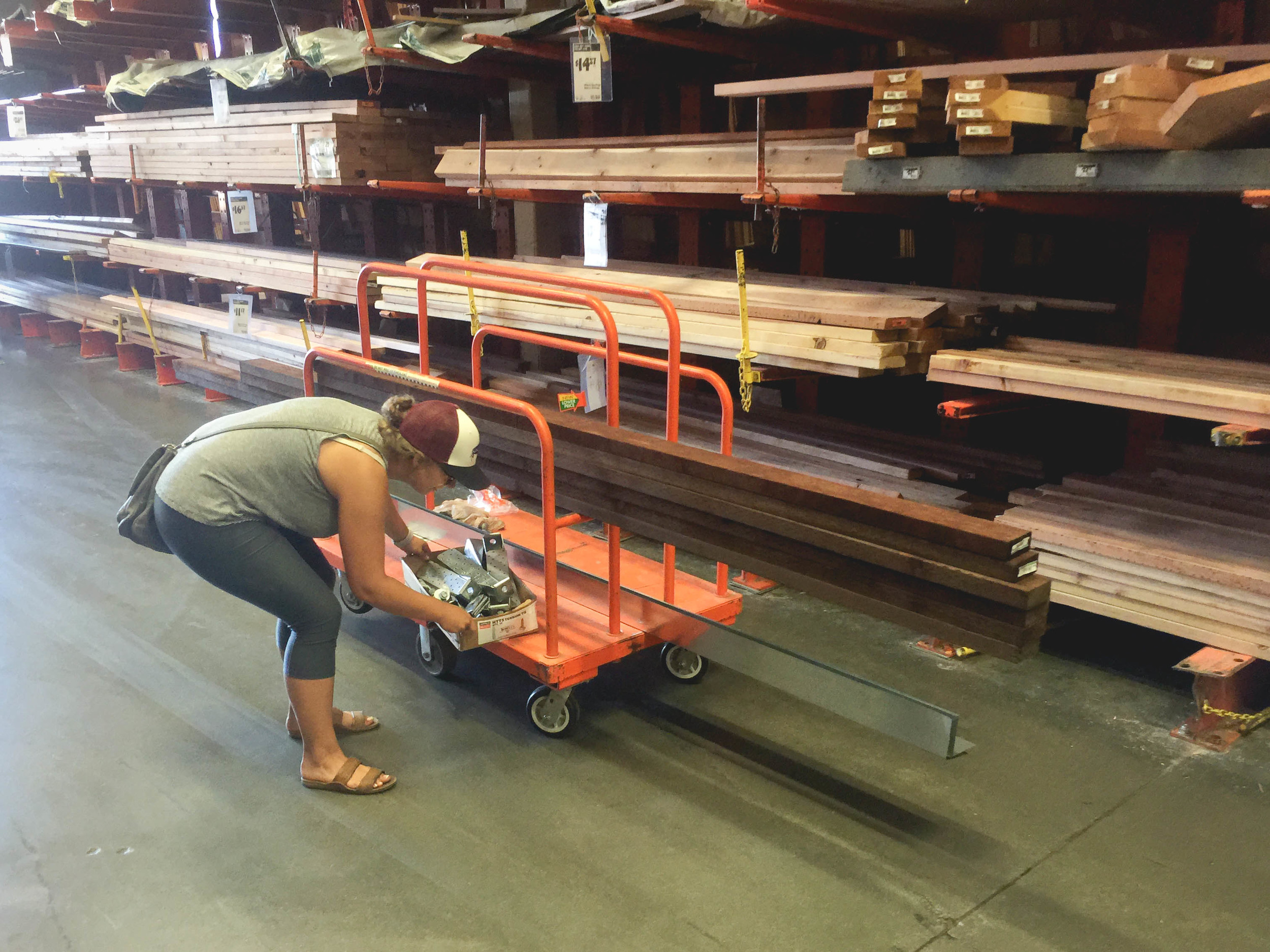 Picking up the sills, L-flashing, bolts, and tie downs. We've been making trips to Home Depot about every other day to pick up materials.