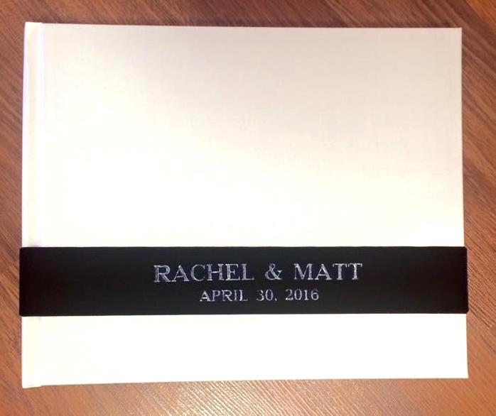 White Silk with Navy Velvet Sash and Silver Foil Lettering