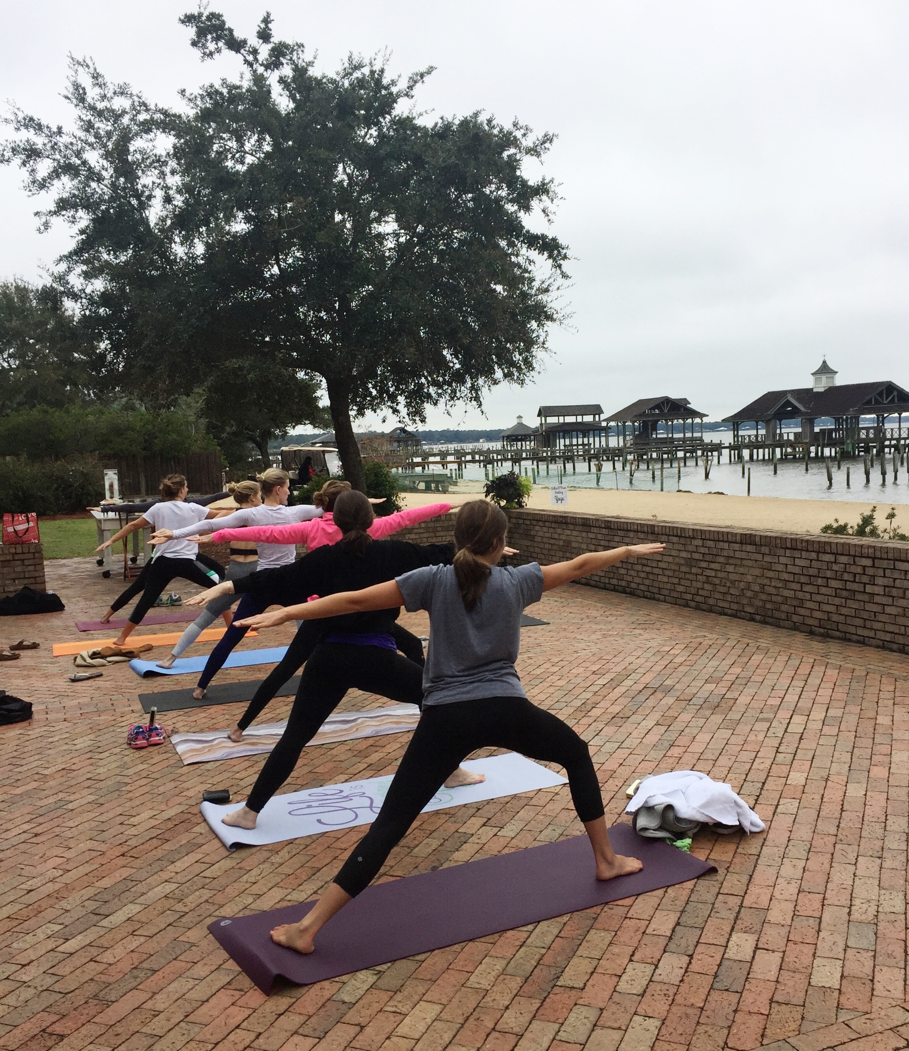 Wedding Day Yoga in Point Clear, Alabama with Core Studio