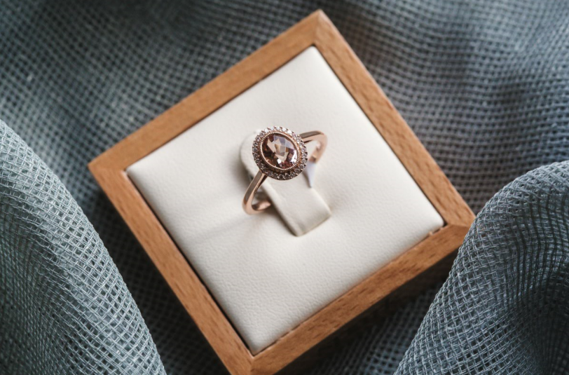 Morganite and Rose Gold Engagement