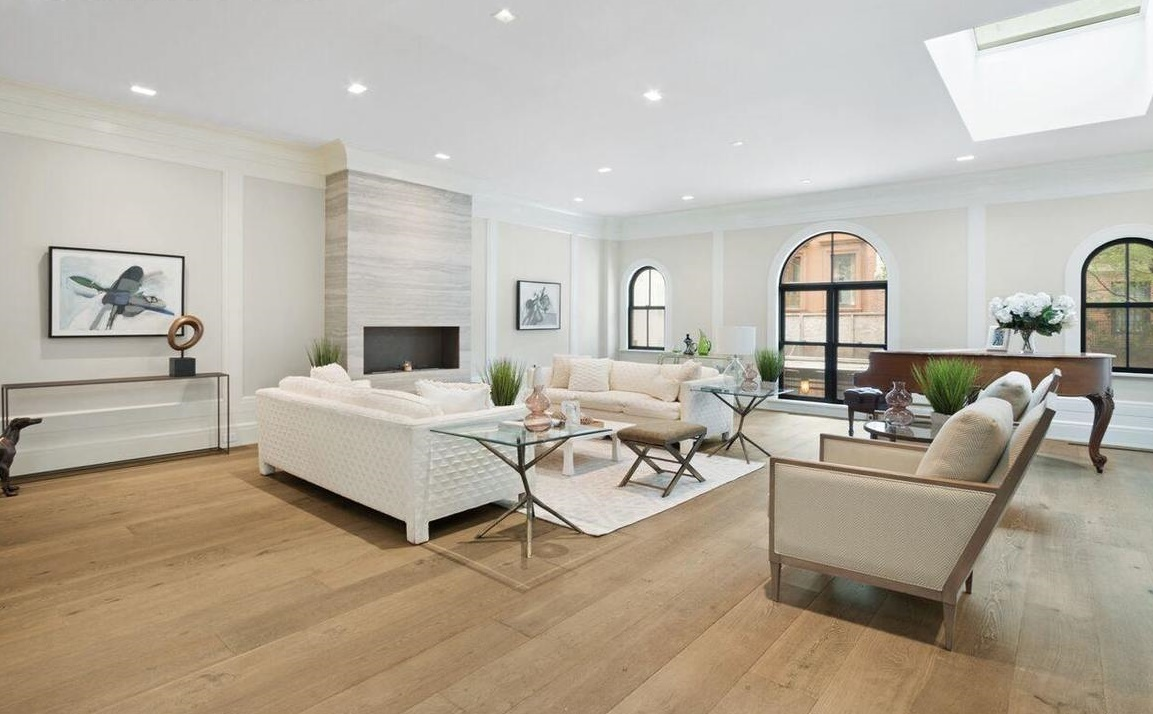 After: Living Room in Brooklyn Heights Carriage House
