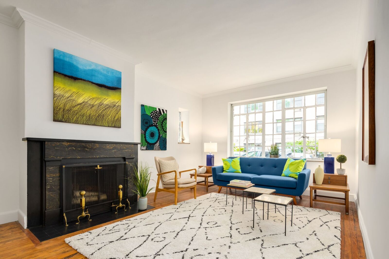 After: Tudor City Estate Living Room