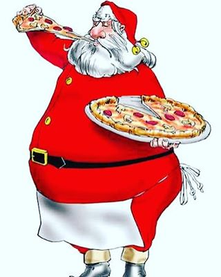 Even Santa has to take a lunch break! Order a large pie for only $9.99! We have free delivery! 609.886.8800 #santa #planetpizzanj #pizza🍕 #santalovespizza
