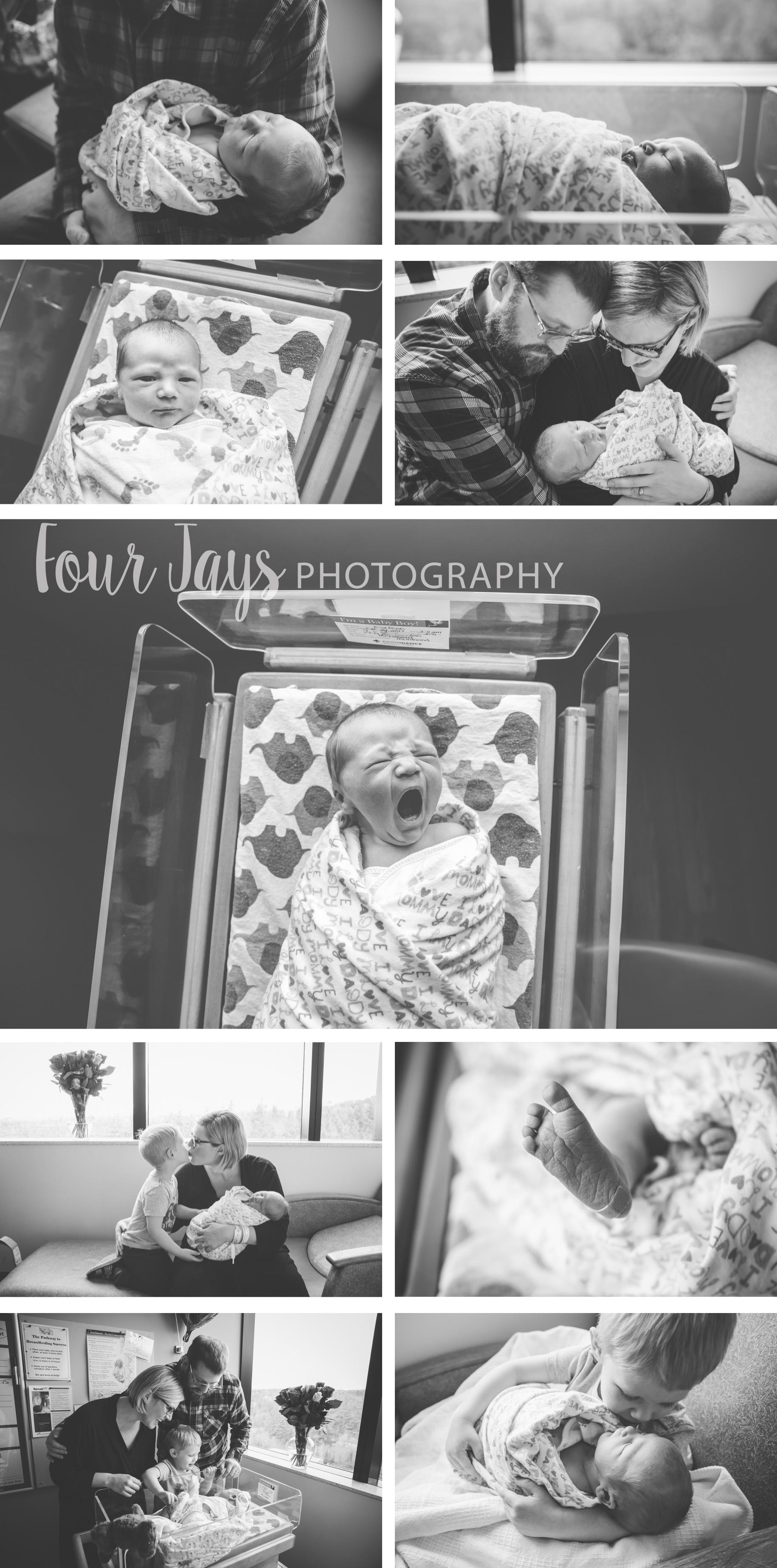In Hospital Fresh 48 newborn session in Portland Oregon
