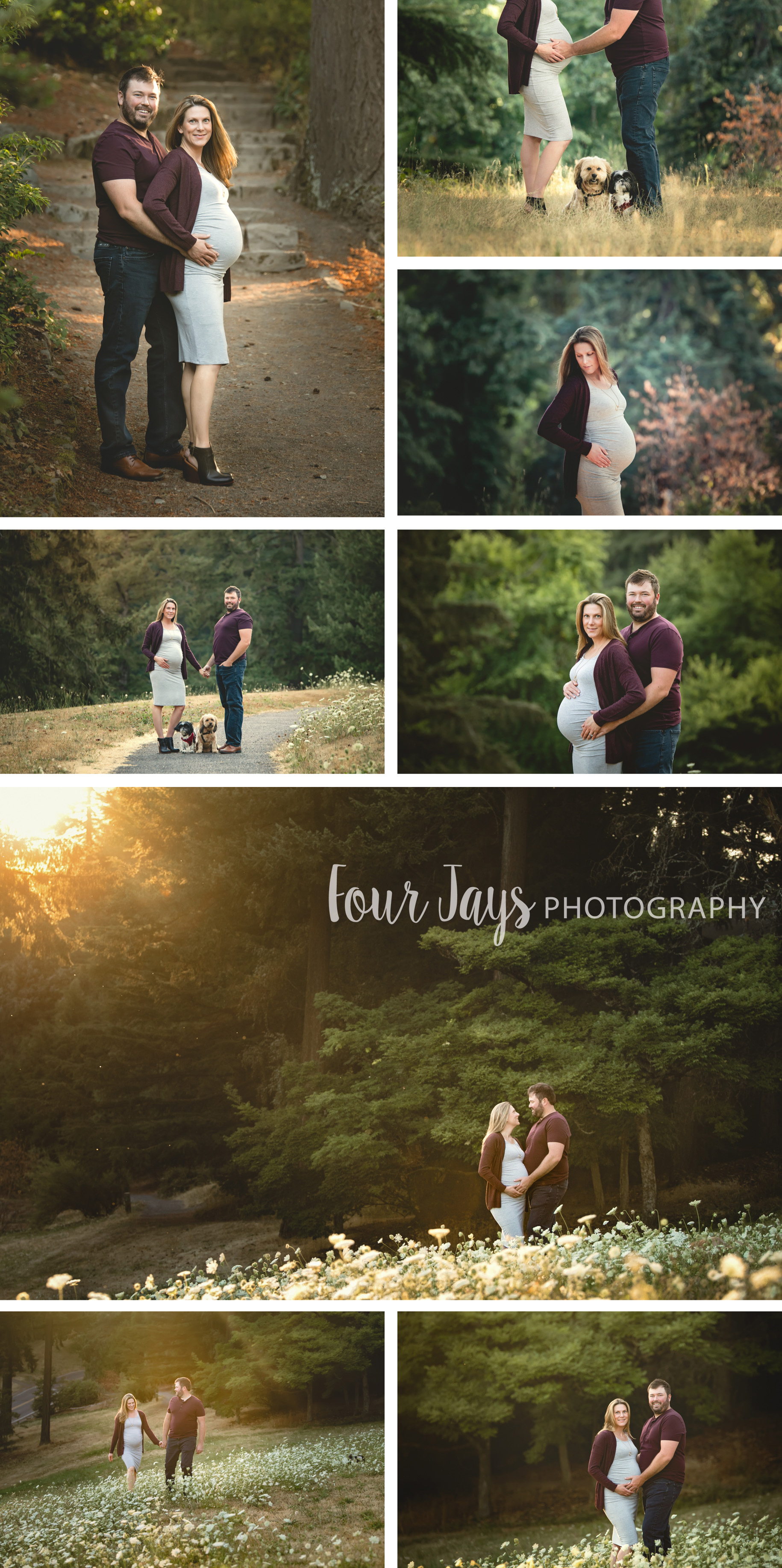 Best Portland Maternity Outdoor Session dogs wm.jpg