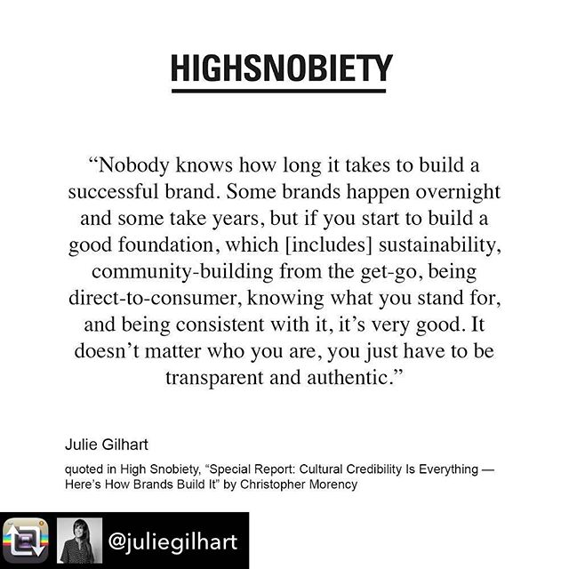 Cultural credibility is everything. . RP @juliegilhart @highsnobiety .