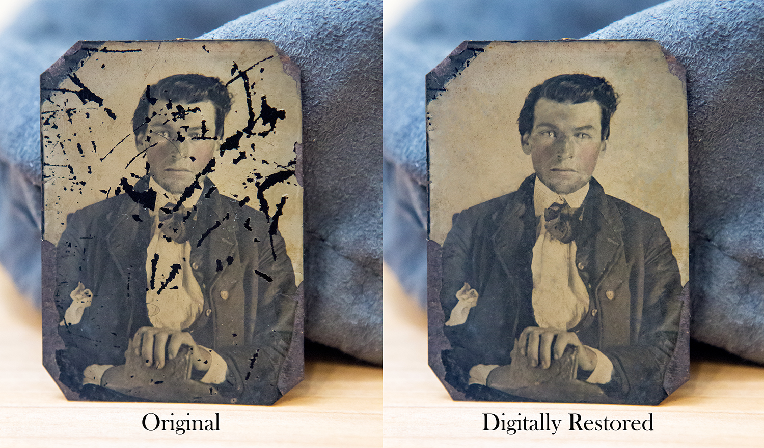 Digital restoration of an historic tintype