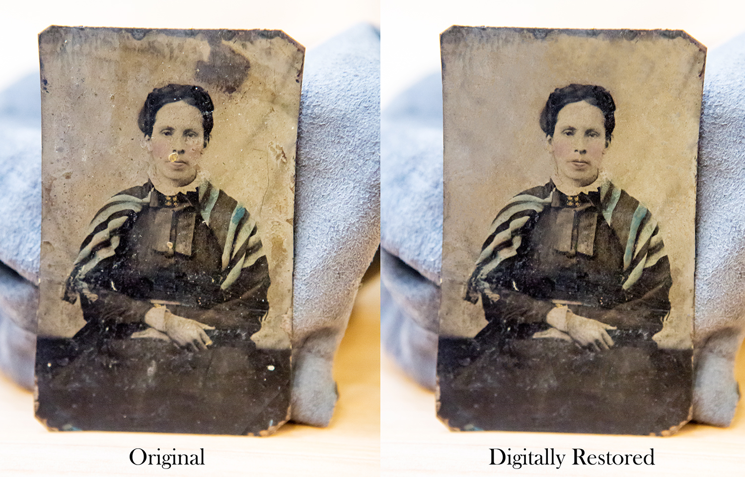 Digital restoration of an historic photograph