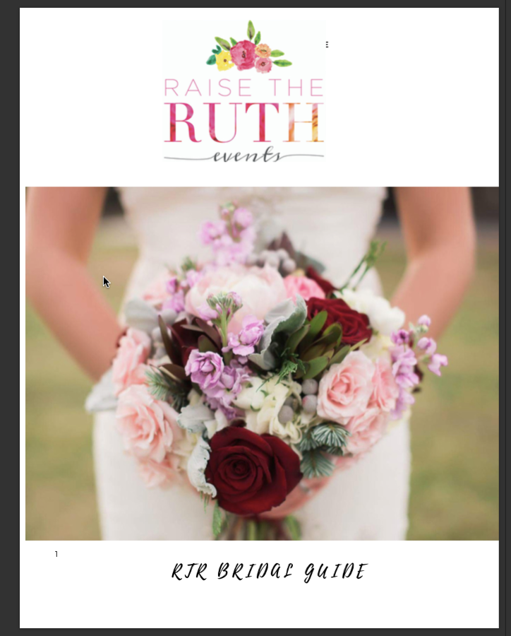Raise The Ruth Events  Bridal Guide