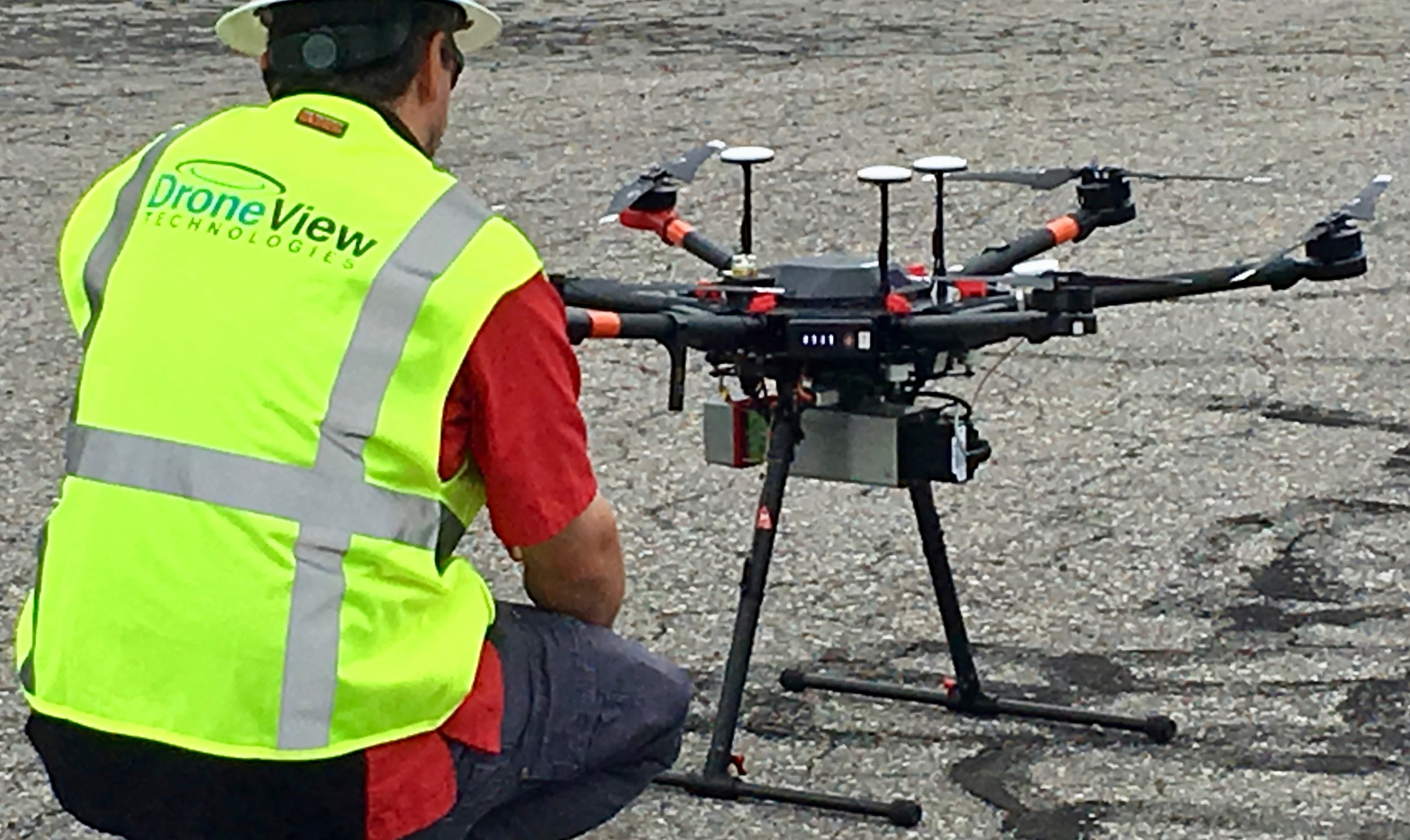 Riegl miniVUX UAV Sensor on a DJI M600 provides high accuracy mapping especially in vegetated areas