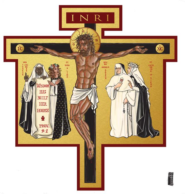 Icon Cross design for Cor Jesu Chapel at Barry University, Miami Shores, Florida (2016):