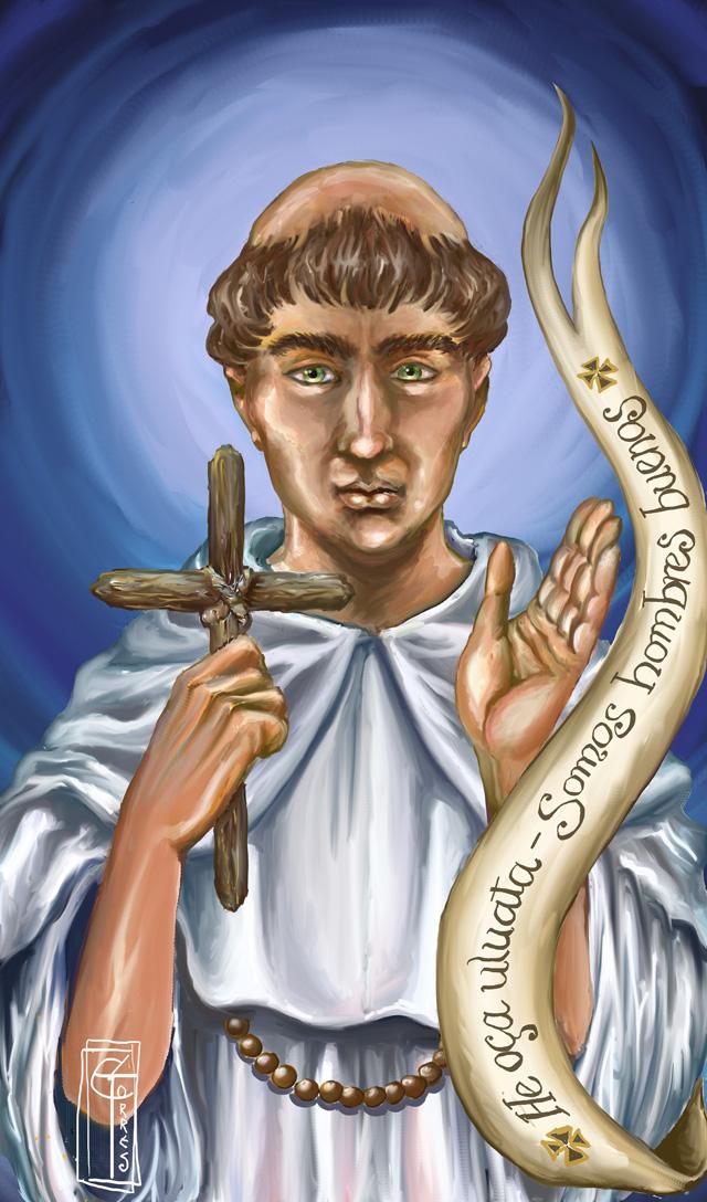 Luis de Cáncer, op Holy Card