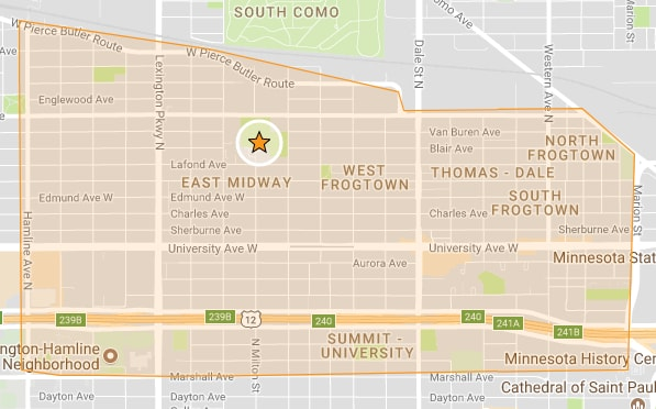 Frogtown Neighborhood Boundaries